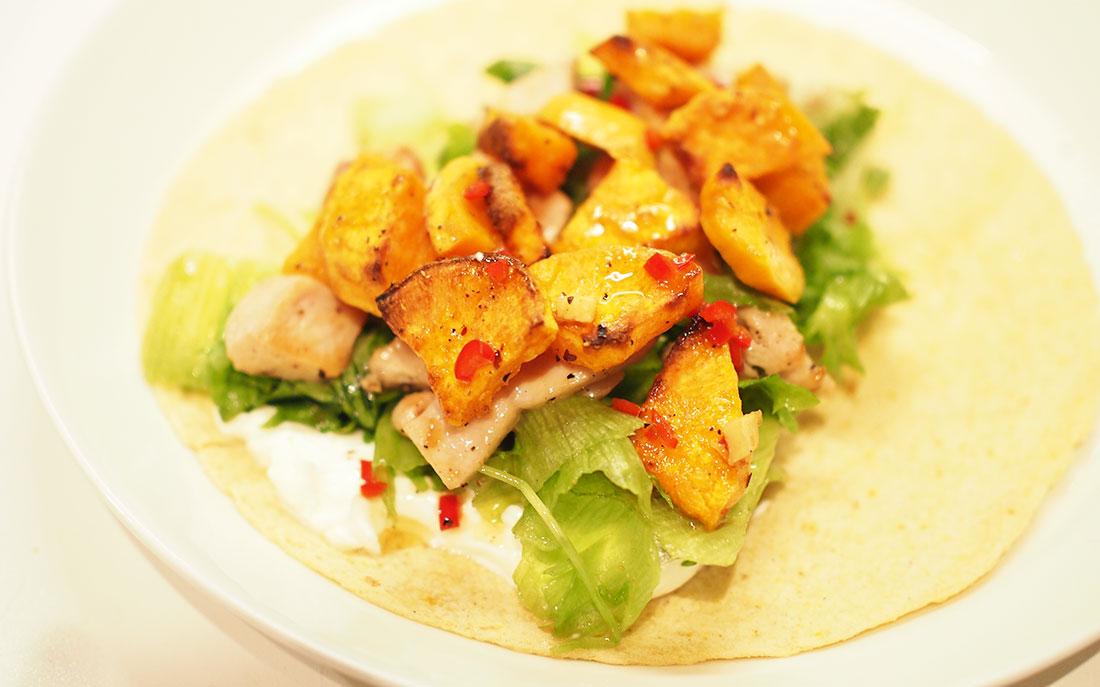 bataatti sopii täydellisesti tortillojen täytteeksi