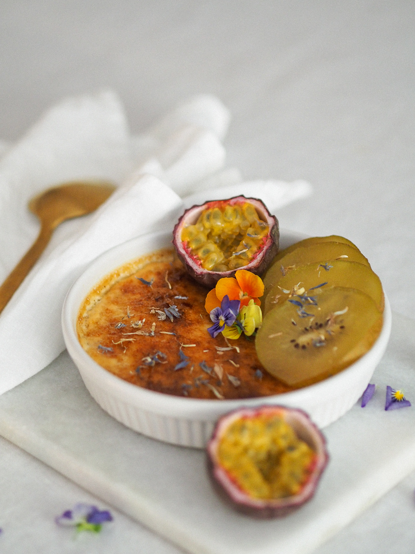 Crème brûlée onnistuu myös maidottomana.
